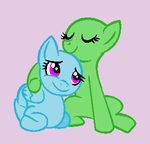Cuddling Ponies Base by Rain-Approves