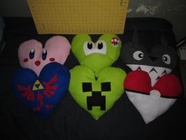 Valentine Day Pillows -For Sale- by AztecTemplar