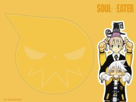 Soul and Maka wallpaper by snowymari