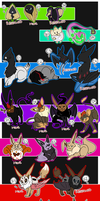 6 Clutches - FUSIONS AND MORPHS by xXAuraTaurusXx