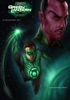 Green lantern movie colors by vic55b