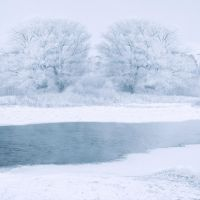 Winters Lake Premade Background by VIRGOLINEDANCER1