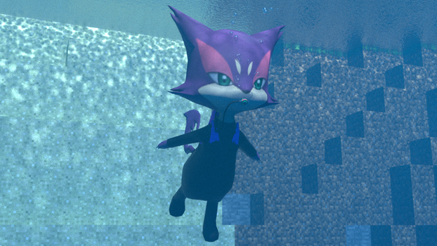 Diver Purrloin exploring the deep by kuby64