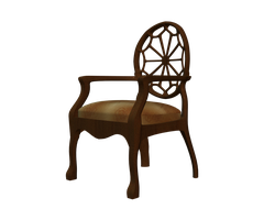 cut-out chair stock side png by madetobeunique