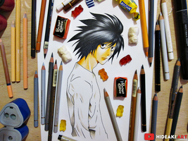 L Lawliet || Death Note by HideakiArtReal