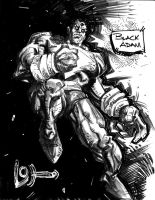 BLACK ADAM in black and white by johjames