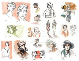 1920 sketches by LaTaupinette