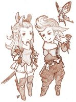 Edea and Ringabel by EmperorAtma