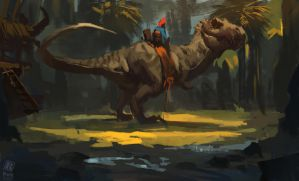 Dino Rider by Raph04art