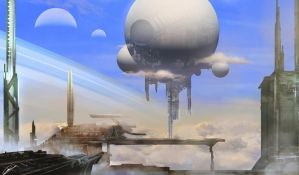 Sky City by GuilleBot