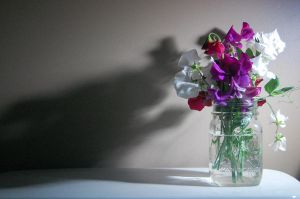 Vase of Sweet Peas by Oranjes