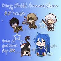 Chibi Commissions by Polkaa