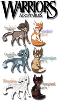 Warrior Cat Adoptables 1/4 by BrizzAdoptsXX
