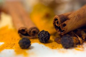 Peppercorns and cinnamon by AngiWallace