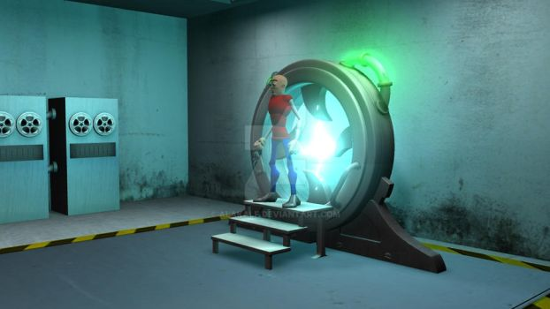 3D Simulation- Time Machine by Alakalf