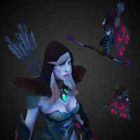 Drow Ranger Enchanted Set by betasector