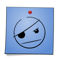 Post-It Smiley: Pirate by mondspeer