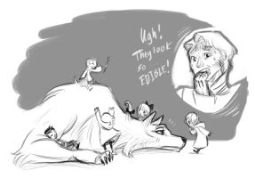 Wolves of Danu: Lomair and Children by Dream-Piper