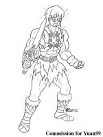 COM : Ash into He-man part 6 SKETCH by whiteguardian