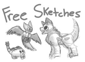 Free Sketches!! Closed by ForestGlade