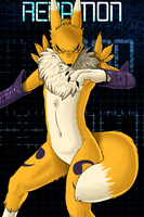 Renamon by Fiidchell
