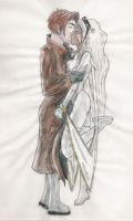 Gambit and Storm Kiss by Elfkid