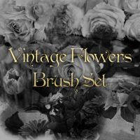 Vintage Flowers Brush Set by noema-13