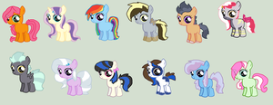 MLP ship adopts by REDandYELLOWZ