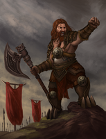 Character Illustration - Dwarf King by leonwoon
