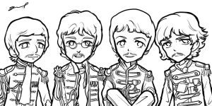 Sgt. Pepper's Band Sketch by GRLEE