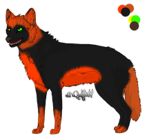 100-2 Themes Adopt - Halloween Wolf - Gone by Feralx1
