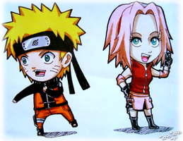 Naruto and Sakura by icha-icha