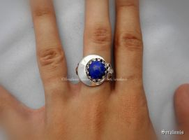 'Midnight moon' handmade sterling silver ring by seralune