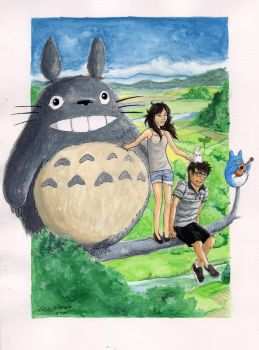 With Totoro by Mr-Vieira