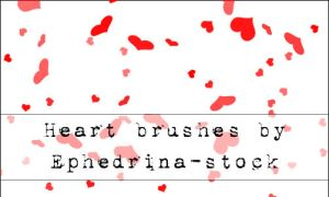 Heart II brushes by ephedrina-stock