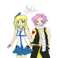 NaLu rough sketch by FairyTailForever123