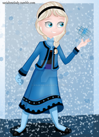 Frozen- Little Elsa by Ksukira