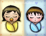 .::RQ- Newborn Hoby and Mari::. by Misskatt66