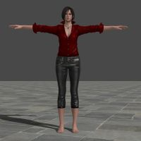 Ada gloveless and barefoot meshmod by Strawberry-Pink05