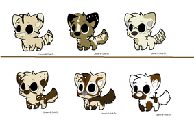 Wolf Chibi Adoptables in Sets .::READ DISCRIPTION by 6LITCH-TH3-W01F