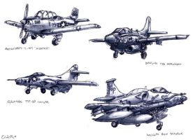 Aircraft Sketching by mighty5cent