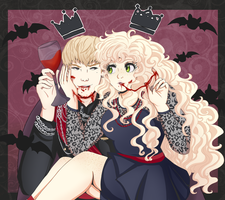 The king and the queen of halloween by Haoiki