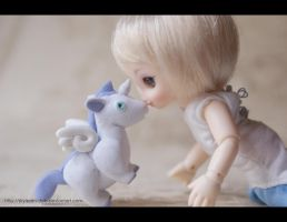 Unicorn's Kiss by MySweetQueen-Dolls