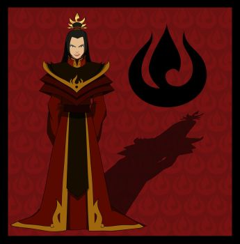 Fire Lord Azula by invisiblejohnny
