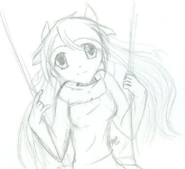 On a Swing by prin-chan