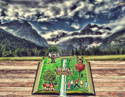 The magic of books and imagination by hectorgoody