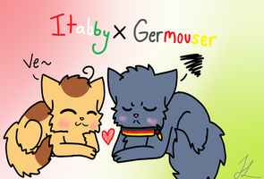 Itabby x Germouser by BlueshinetheKat