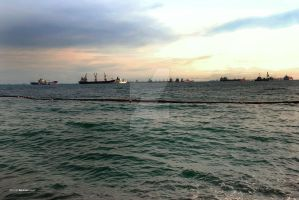 The Sea of Sentosa by sarthahirah