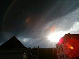 Beautiful Sunset behind dark clouds 3# by DrakebyRS