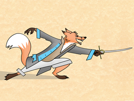 Fencing Fox by Steam-Pirate